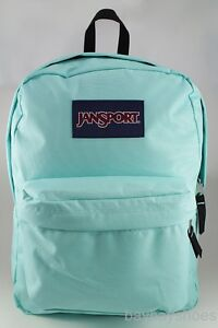 JANSPORT SUPERBREAK AQUA DASH BLUE GREEN/BLACK BEACH GLASS ...