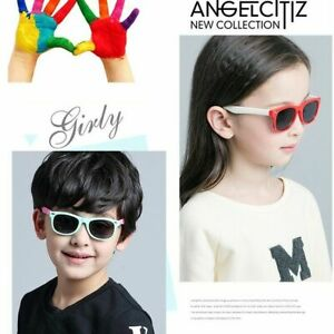 Kids-Polarized-Sunglasses-Rectangular-Boys-Girls-Shades-Fashion-Classic-Children