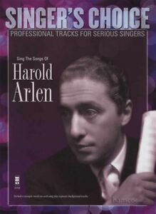 Chante Les Chansons De Harold Arlen Music Book & Backing Tracks Pour Chanteurs-afficher Le Titre D'origine Utilisation Durable