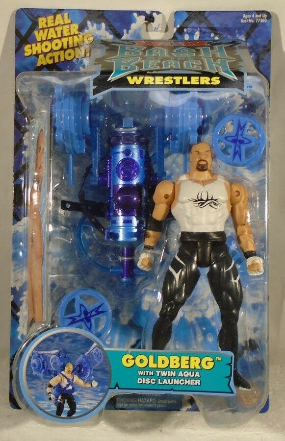 WCW Catch Bash at the Beach-orberg Twin Aqua disc launcher ToyBiz (Comme neuf on card)