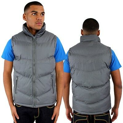 Streetwear Specials Body Warmer Gilet Quilted Jacket Hip Is Hop Money Time Grey
