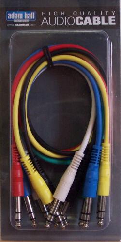 Patchkabel Set farbig mit Stereo-Klinke länge 60cm Patchcable