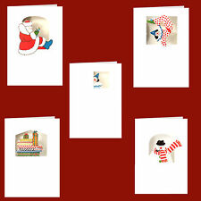 125 Clown, Snowman & Father Christmas Xmas Gift Cards by Courtier XG0030