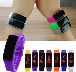 Details Zu Kinder Junge Mädchen Led Sport Elektronische Digital Armbanduhr Uhr Geschenk