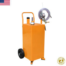 30 Gallon Gas Fuel Diesel Caddy Tank Pump Container Portable Rolling Withpump Hose