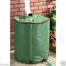 Portable Rain Barrel Water Catcher Downspout Gutter Roof Runoff System 50 Gallon