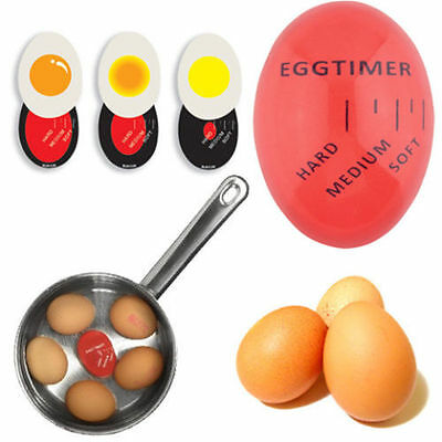 INGENIOUS COLOUR CHANGING EGG TIMER KITCHEN GADGET COOK/BOIL EGGS PERFECTLY DE