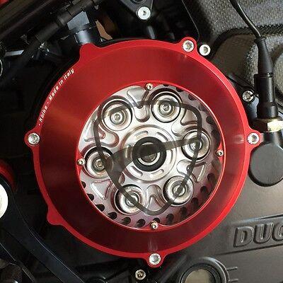 Kbike Kupplungsdeckel Plexy schwarz f/ür Ducati