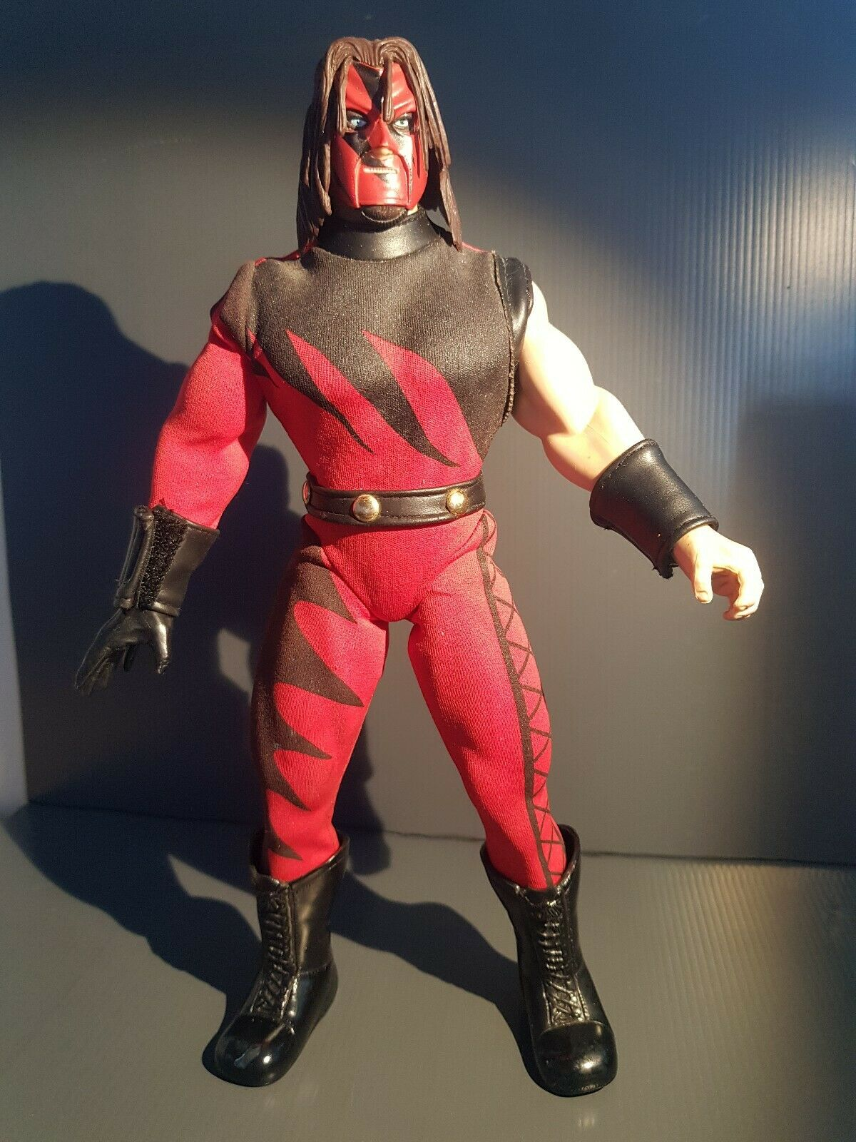 RARE WWF WWE KANE 12  Federation Fighters Exclusive Jakks Wrestling Figure