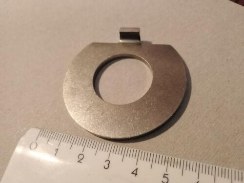 VA Sicherungsscheibe 25x53x3mm.mit Aussennase Sicherungsblech vermutl.DIN432 V4A