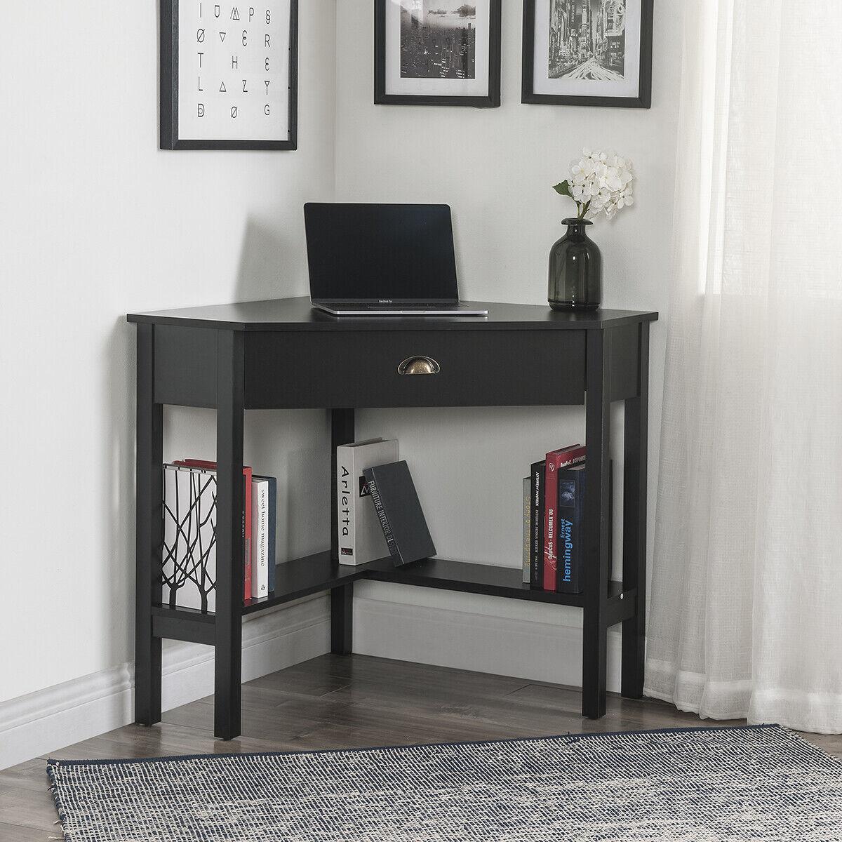 Morgan Corner Computer Desk And Hutch Black Oak For Sale Online Ebay
