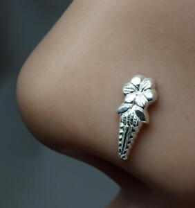 Sterling-Silver-nose-stud-Body-Piercing-Jewelry-Indian-Nose-ear-ring-Push-Pin