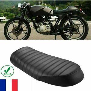 Universel-Noir-Vintage-Moto-Selle-Racer-Flat-Seat-Siege-Coussin-Pr-Yamaha-Honda