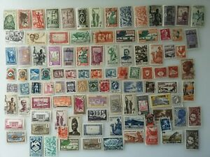 100-Different-French-Colonies-pre-independence-only-Stamp-Collection