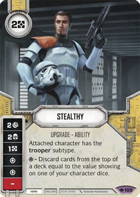 Stealthy Star Wars Destiny Mint//NM Way of the Force SW Fantasy Flight Games F