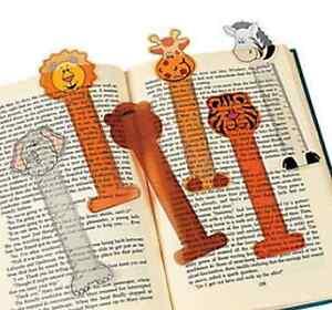 Pack-of-12-Zoo-Animal-Jungle-Safari-Ruler-Bookmarks-Party-Bag-Fillers
