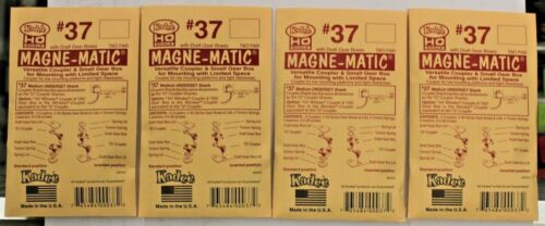 per pack Lot of 4 Packs HO Scale KADEE # 37 MAGNE-MATIC Plastic Couplers 2 Pr