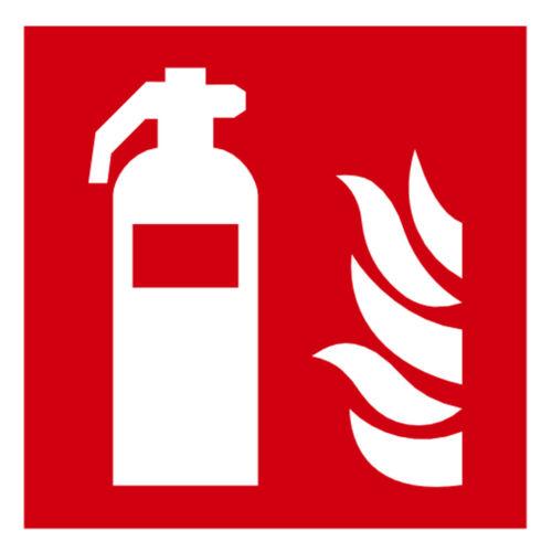 Aufkleber Brandschutz Schild Feuerlösche ISO 7010 bis 30 cm GLANZ Ablösbar