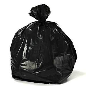 24c720a8727 Image is loading Plasticplace-55-60-Gallon-Trash-Bags-Black-case-