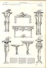 1862 Furnishing Decor Salembier Tripods Frames Tables Sheaths Artwork