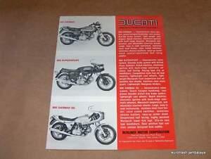 NOS Ducati Darmah 900 SS SD Brochure 1 sheet//2-sided