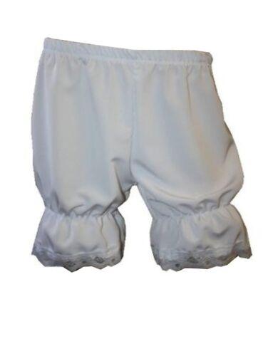 White Steampunk Victorian Short Bloomers Pants Knickerbockers Shorts Fancy Dress
