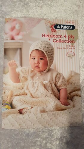 Patons Pattern Book #1283 Heirloom 4 Ply Collection 10 Designs to Knit for Baby