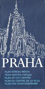 Innenstadtplan, Prag, Praha, 1986