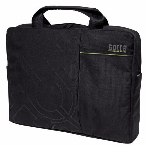 G812 Golla Onyx 16 Pulgadas laptop//messenger bolso en negro Reino Unido Stock