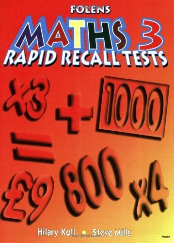 Rapid Recall: Bk. 3 (Rapid Recall for Maths) by Koll, Hilary Paperback Book The