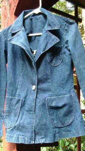 1970s Blue Denim Blazer Vintage