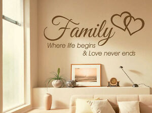 Family-Wall-Quote-Where-life-begins-Vinyl-Sticker-Wall-Art-Home-Mural-Decal