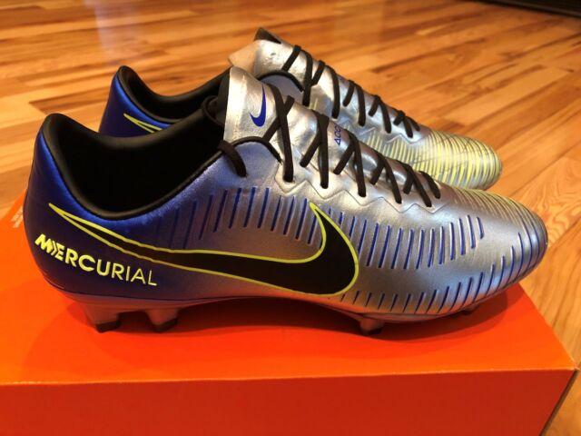 9318f88b6 Nike Mercurial Vapor XI NJR FG Neymar Cleats Blue Chrome Volt 921547-407 Size  9