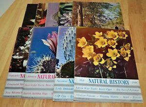 Lot of 9 Vintage Natural History Magazines 1946 1947 1948