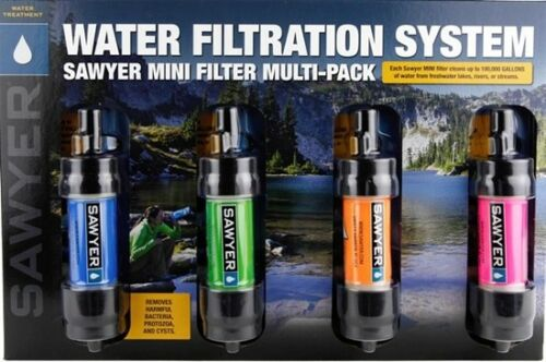 SAWYER SP124 MINI WATER FILTRATION SYSTEM 4PC MULTIPACK