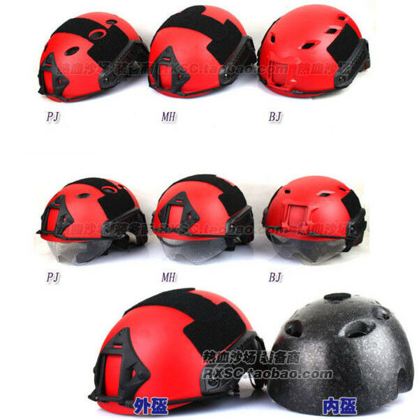 Paintball Predective MH Rescue Disaster Relief Field CS Tactical Red FAST Helmet