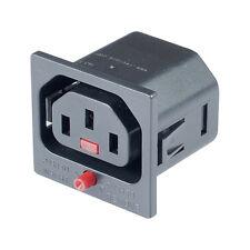 MX IEC C13 Power Iec Lock Connector 3 Pin Ac Plug Female Panel Mounting-MX 3538