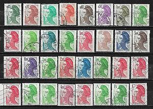 L065 32 Marianne LIBERTE GANDON 1982 1983 1984 1985 1986 1987 Lettre A-B-C