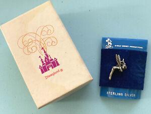 Disney-Vintage-Tinker-Bell-Sterling-Silver-Charm-and-box-c1960s-Disneyland