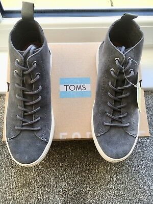 b86f7fad4686 TOMS High Tops grey Size 6.5 UK Trainers BNWB Indie Sneakers