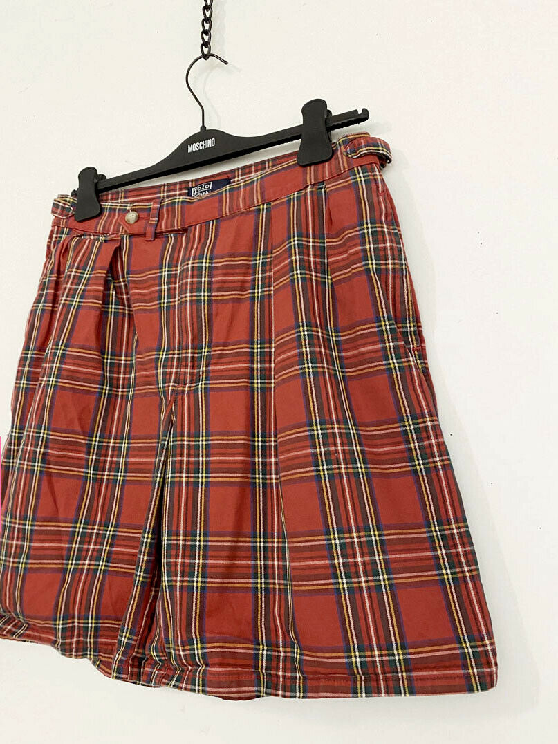 ⭕ 80s Vintage Ralph Lauren Plaid shorts : punk sh… - image 3