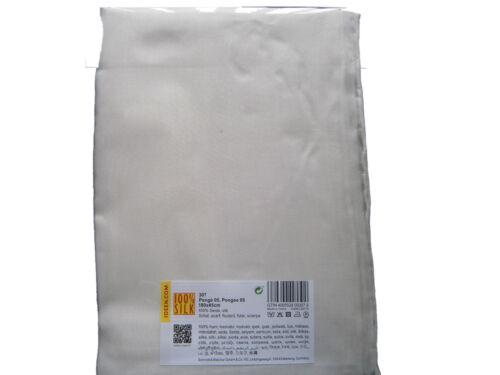 45x180 cm handrolliert Seidentücher Seidenschals Seide Ponge 05 weiß 1 x 6 Stck