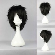 Short layered loveless Black Anime Cosplay Wig free shipping 001ZAL