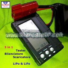 LiPo & LiFe 3in1 Tester Bilanciatore Scaricatore balancer discharger imax b6