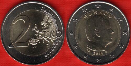 """Monaco 2 euro 2014 km#195 /""""Prince Albert II/"""" BiMetallic UNC"""