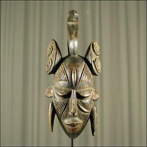 59911) Afrikanische Holz Maske Ligbi Elfenb.-küste Afrika KUNST