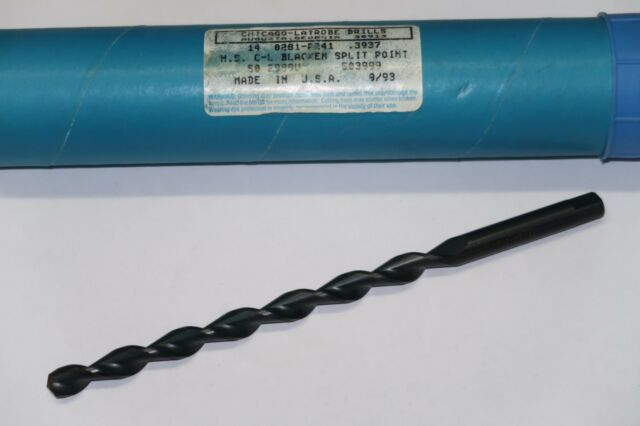 "new CHICAGO-LATROBE 7//16/"" HSCo M42 Taper Length Tang Shank Black Twist Drill USA"