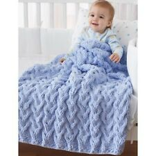 Shadow Cable Baby Blanket Knitting Pattern in PDF