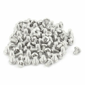 M5-x-6mm-304-Stainless-Steel-Crosshead-Phillips-Round-Head-Screws-Bolt-60pcs