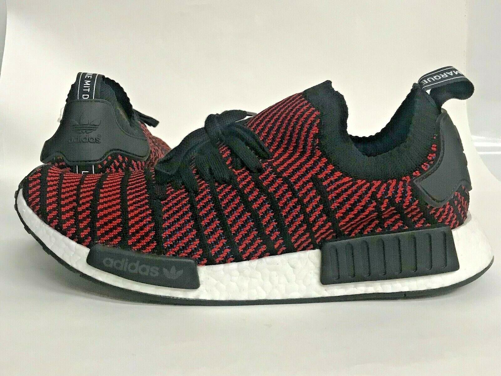 NIB Men's size 13 adidas NMD PRIMEKNIT running Sneakers black red cq2385